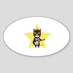 Rock-Music Cat Sticker