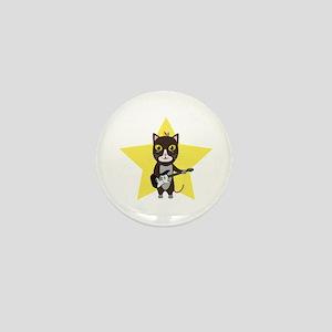 Rock-Music Cat Mini Button