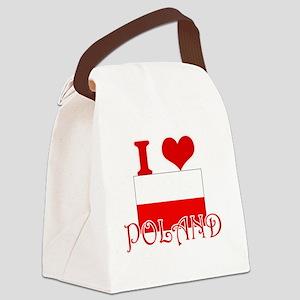 I Love Poland Canvas Lunch Bag