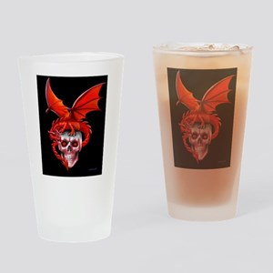 Skull Drangonry Drinking Glass