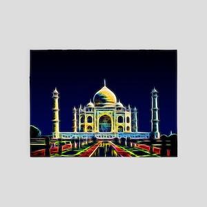 Taj Mahal, Agra, India 5'x7'Area Rug