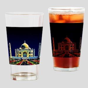 Taj Mahal, Agra, India Drinking Glass