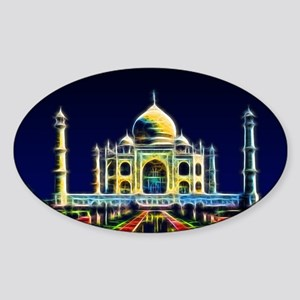 Taj Mahal, Agra, India Sticker (Oval)