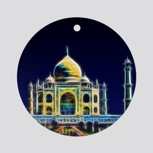 Taj Mahal, Agra, India Round Ornament