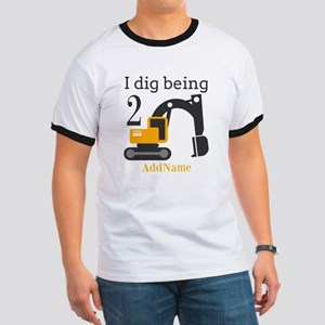 I Dig being 2 Construction Birthday T-Shirt