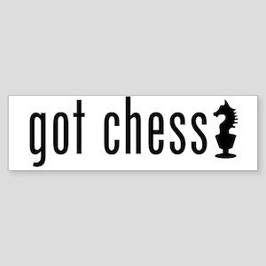 got chess? Sticker (Bumper)