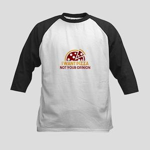 I Want Pizza Baseball Jersey
