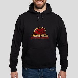 I Want Pizza Hoodie (dark)