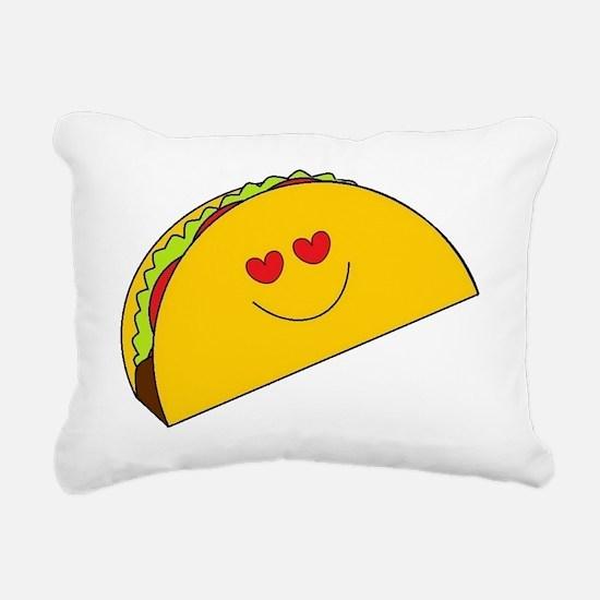 Cool Tacos Rectangular Canvas Pillow