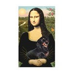 Mona Lisa/Dachshund (BT4 Sticker (Rectangle 10 pk)