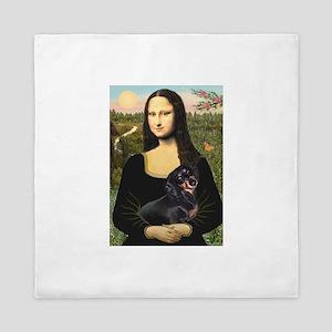 Mona Lisa/Dachshund (BT4) Queen Duvet