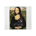 Mona Lisa/Dachshund (BT4) Throw Blanket