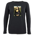 Mona Lisa/Dachshund (BT4 Plus Size Long Sleeve Tee