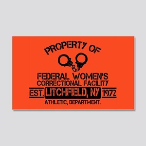 OITNB Federal Womens 20x12 Wall Decal