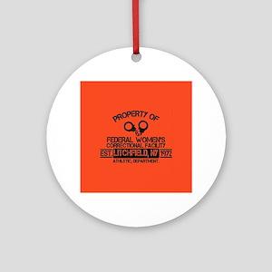 OITNB Federal Womens Round Ornament