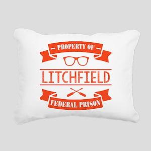 Property of Litchfield F Rectangular Canvas Pillow