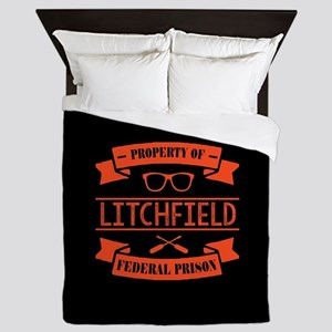 Property of Litchfield Federal Prison Queen Duvet