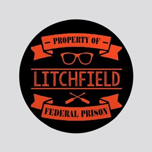 Property of Litchfield Federal Prison Button