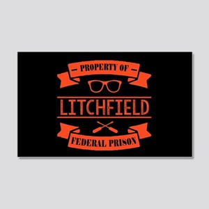 Property of Litchfield Federal Pr 20x12 Wall Decal