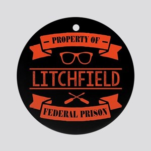 Property of Litchfield Federal Pris Round Ornament