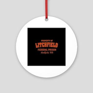 OITNB Litchfield Federal Prison Round Ornament