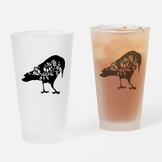 Fancy Raven Drinking Glass
