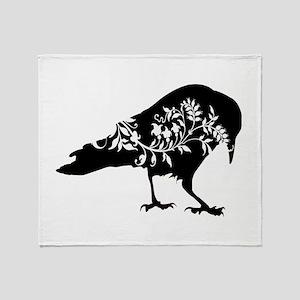Fancy Raven Throw Blanket