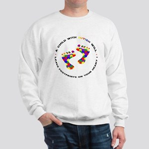 Footprints on your heart circ Sweatshirt