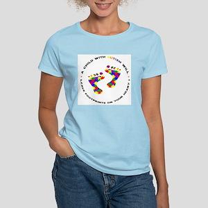 Footprints on your heart circ Women's Light T-Shir