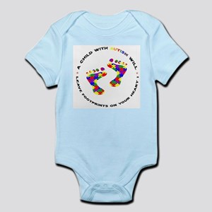 Footprints on your heart circ Infant Bodysuit