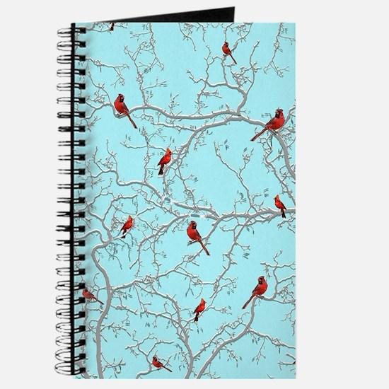 Cardinals on blue Journal