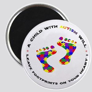 Footprints on your heart circ Magnet