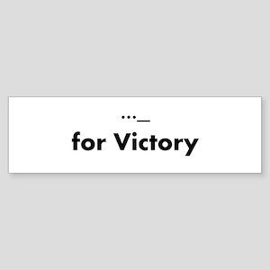 vforvictory Bumper Sticker