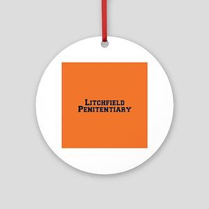 Litchfield Black Round Ornament