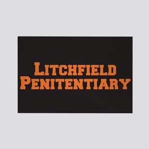 Litchfield Orange Rectangle Magnet