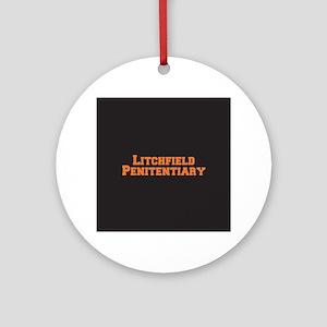 Litchfield Orange Round Ornament