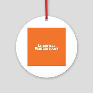 Litchfield White Round Ornament