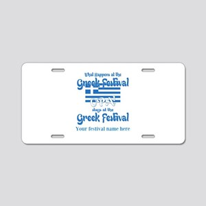 Greek Festival Aluminum License Plate