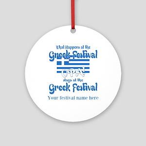 Greek Festival Round Ornament