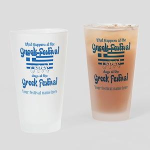 Greek Festival Drinking Glass