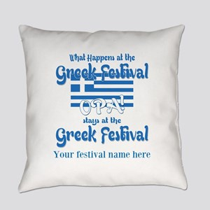 Greek Festival Everyday Pillow