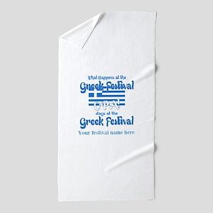 Greek Festival Beach Towel