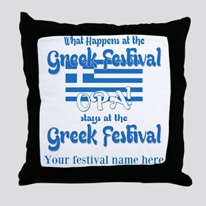 Greek Festival Throw Pillow