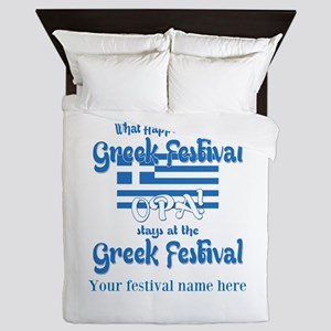 Greek Festival Queen Duvet