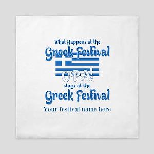 Greek Festival Queen Duvet