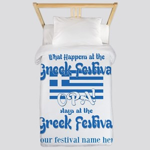 Greek Festival Twin Duvet