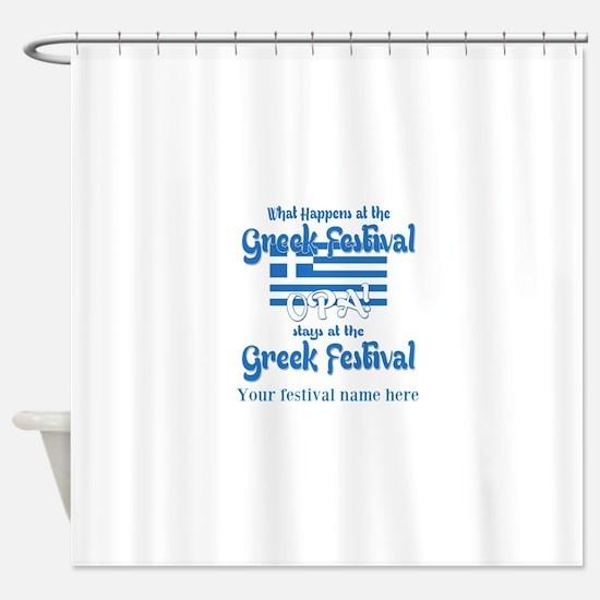 Greek Festival Shower Curtain