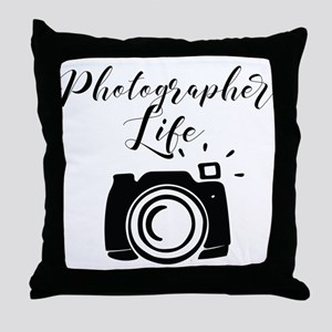Photographer Life Throw Pillow