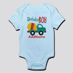Customized Construction Cement Mixers Birthday Bod