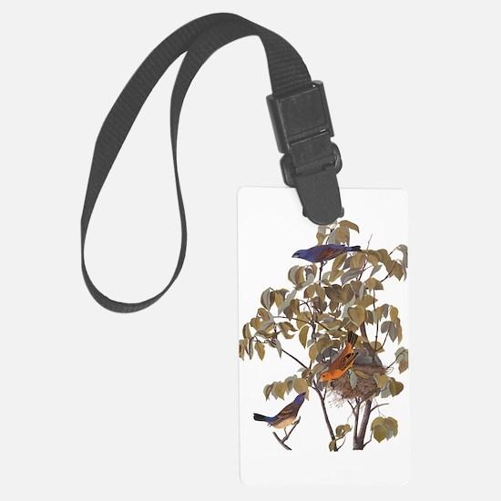 Blue Grosbeak Birds Vintage Audubon Art Luggage Ta